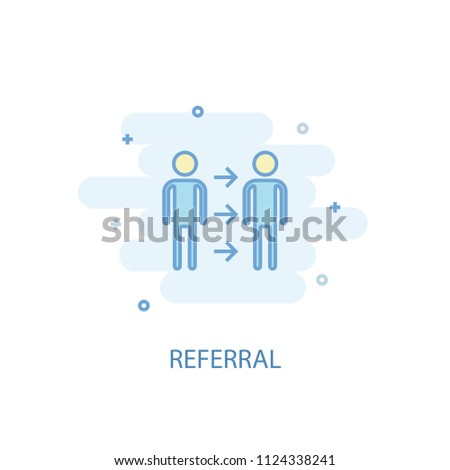 Referral concept trendy icon. Simple line, colored illustration. Referral concept symbol flat design from Human resources set. Can be used for UI/UX