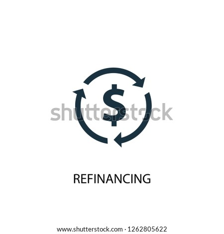 Refinancing icon. Simple element illustration. Refinancing concept symbol design. Can be used for web and mobile.