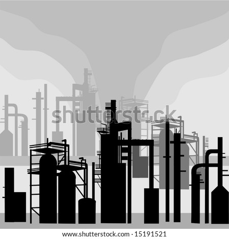 Refinery Environment silhouettes is original artwork. The vector file is in AI-EPS 8 format.
