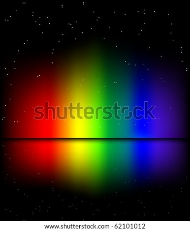 Reflected rainbow lights background (eps10 vector)