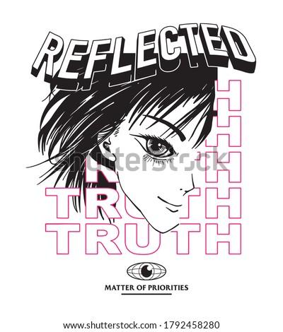 reflected truth slogan print