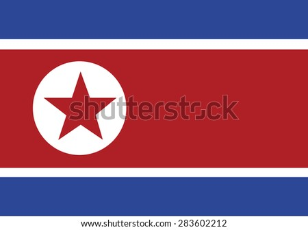reflection flag north korea