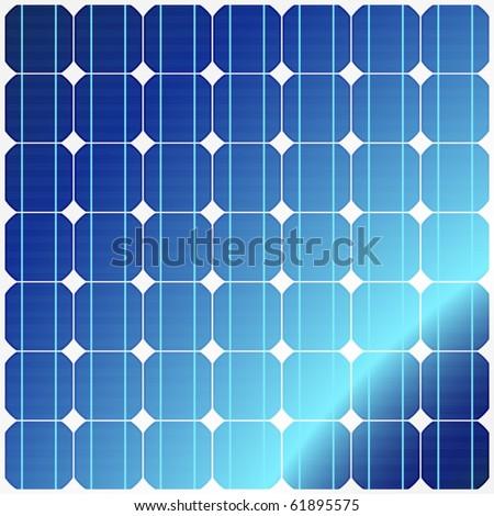 Reflection in solar panels. Vector.