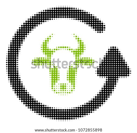 refresh bull halftone vector