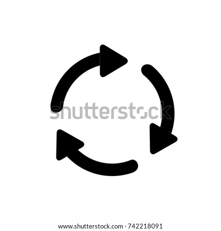 Shutterstock Refresh Icon, Refresh icon vector, in trendy flat style isolated on white background. Refresh icon image, Refresh icon illustration