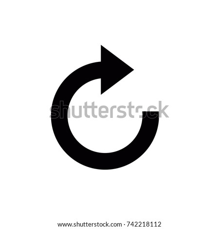 refresh icon, refresh icon vector, in trendy flat style isolated on white background. refresh icon image, refresh icon illustration