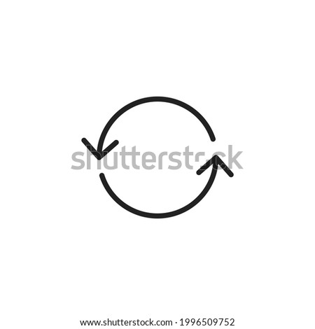 Refresh icon. Reload icon vector. Update sign. Refresh icon isolated on white. Vector illustration. refresh icon vector from miscellaneous collection. Thin line refresh outline vector