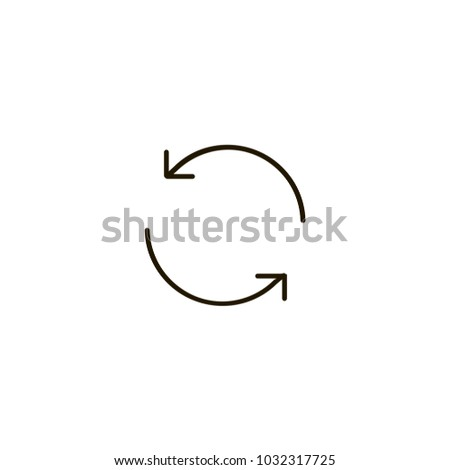 refresh icon. sign design