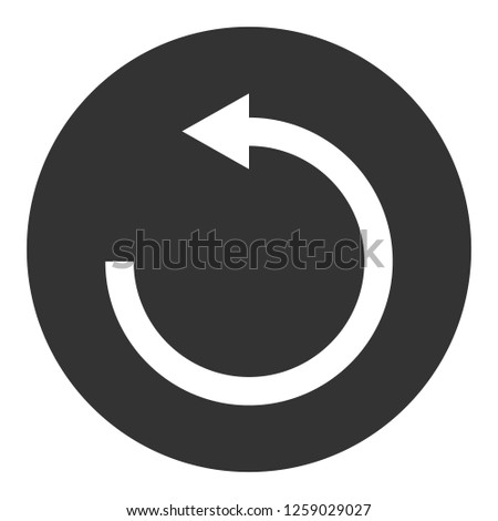 Refresh icon. Undo vector sign. Redo symbol. Update icon. Reload sign. Rotation sign. Arrow icon. EPS 10 flat symbol. Round icon design