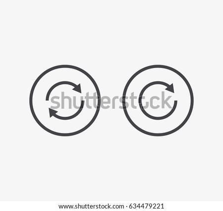 Shutterstock Refresh Line Icon. Editable Stroke.