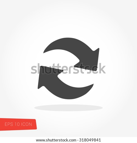 Shutterstock Refresh, Reload Isolated Flat Web Mobile Icon / Vector / Sign / Symbol / Button / Element / Silhouette