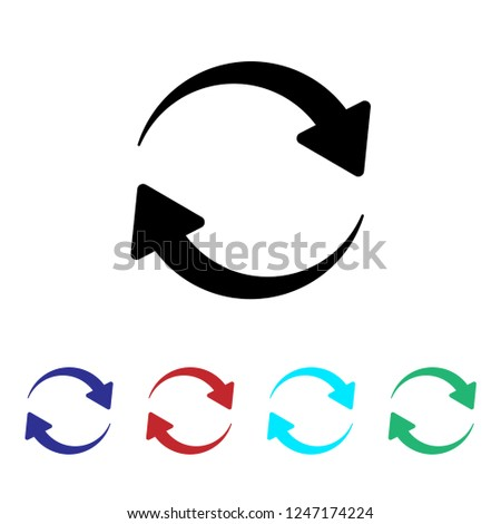Refresh, Reload or Update icon with arrows. vector  #1247174224