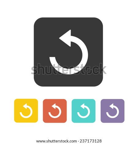 refresh set icon vector