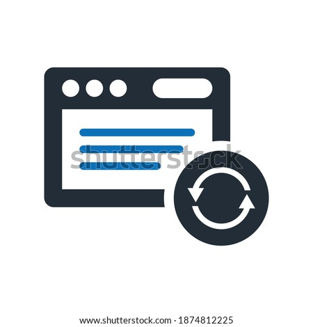 Refresh window icon.sync,page,browser (vector illustration)
