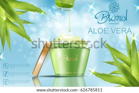 refreshing cosmetic ad   green