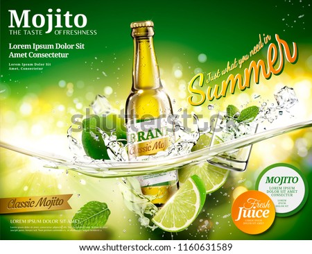 refreshing mojito ads with a