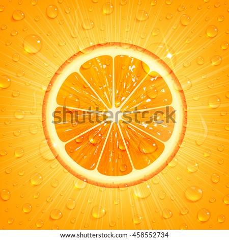 refreshing orange background