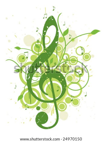 Refreshing Spring Music Background - stock vector