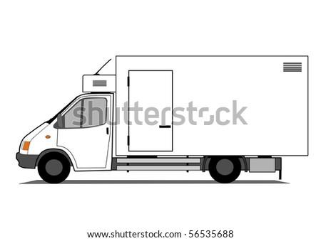 Refrigerated car vector