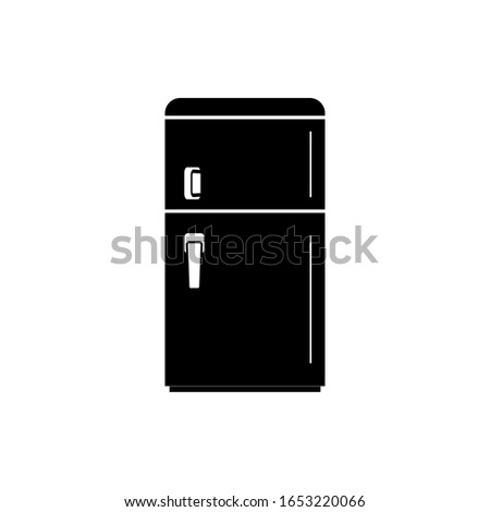 Refrigerator icon, icebox sign design.
