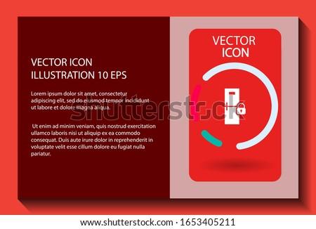 Refrigerator icon security . Lorem Ipsum Illustration design
