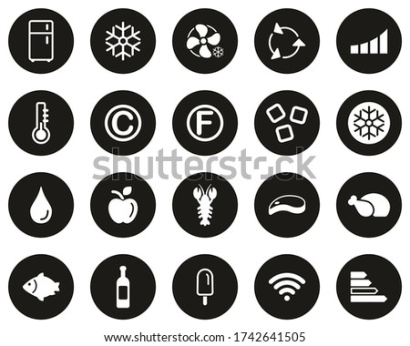 refrigerator or cooler icons