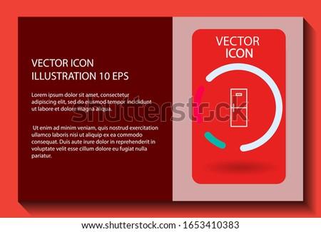 Refrigerator Vector icon . Lorem Ipsum Illustration design