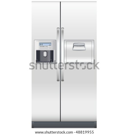 refrigerator - vector illustration