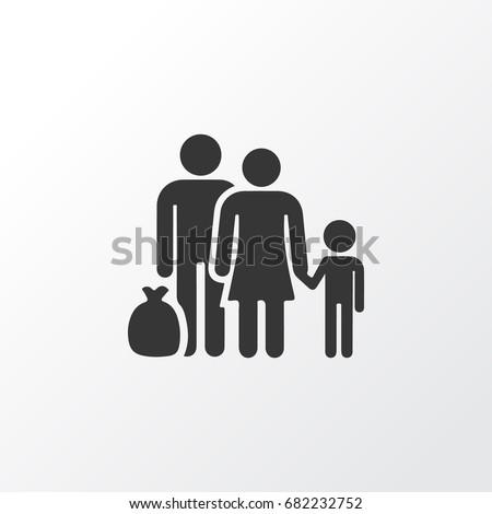 refugee icon symbol premium