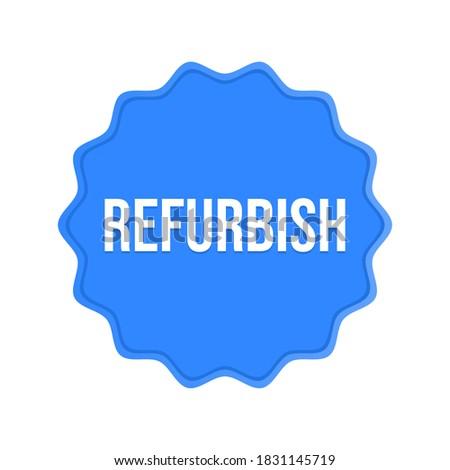 Refurbish icon refurbished isolated sign refurbished icon vector Stockfoto ©