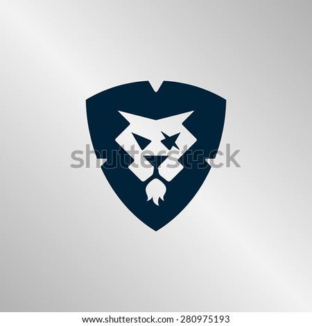 regal illustration of a lion