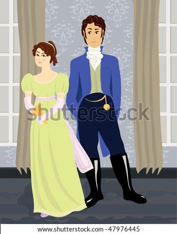 regency man and woman