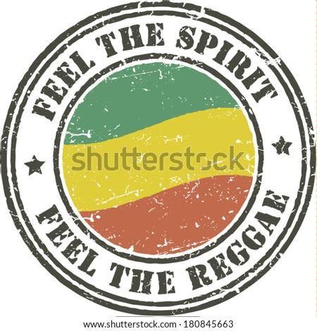 reggae grunge stamp