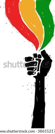 reggae hand draw illustration
