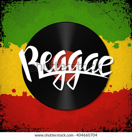reggae lettering vector reggae