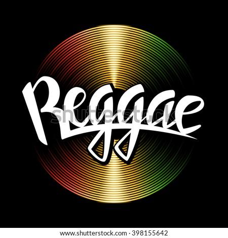 reggae lettering vector vinyl