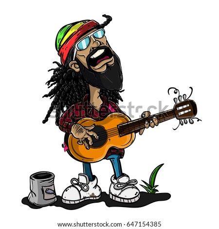 reggae man singing with guitar