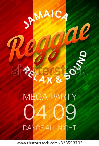 reggae music party poster