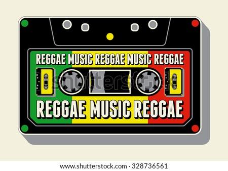 reggae music poster retro