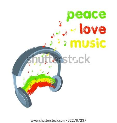 reggae peace love music design