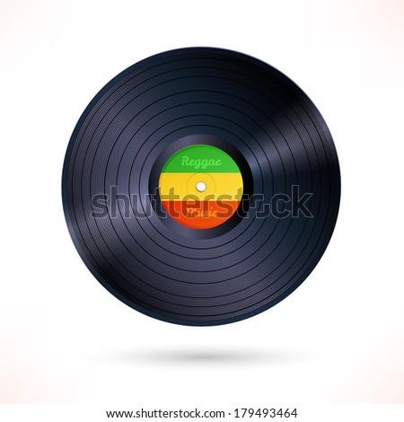 reggae vinyl record vector
