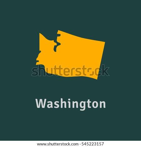 region icon of USA. washington