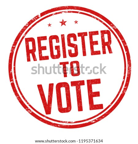 Register to vote sign or stamp on white background, vector illustration Сток-фото ©