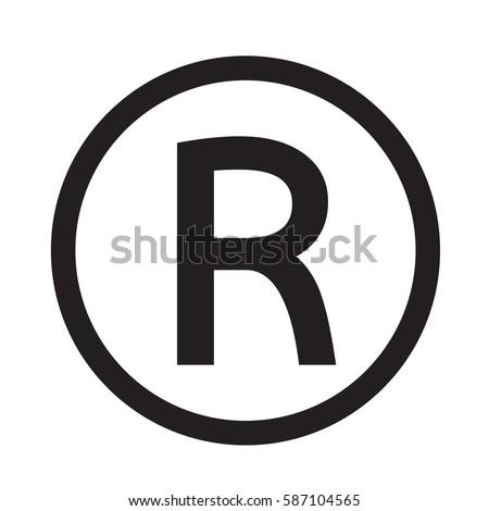 Registered Trademark icon #587104565