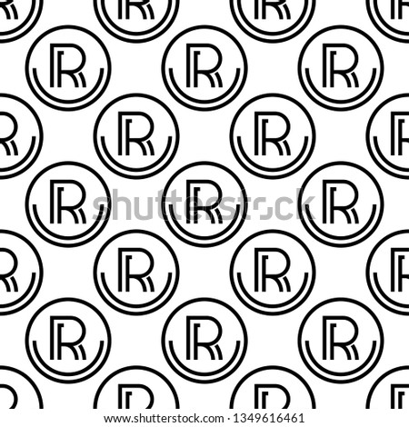 6c3a4bfd Registered Trademark Icon, Letter R Symbol Seamless Pattern Vector Art  Illustration - Shutterstock ID 1349616461