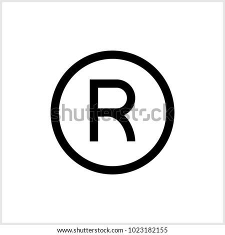 Registered Trademark Icon Vector Art Illustration