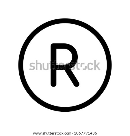 Registrated Trademark Vector Icon Illustration For Web And Mobile App.Ui/Ux