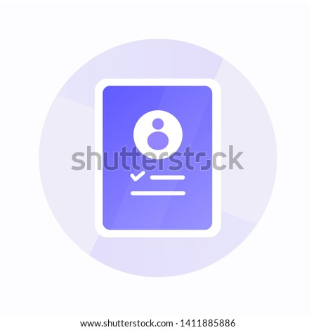 Registration security flat icon with gradient style. Check list success icon for business and presentation Stockfoto ©