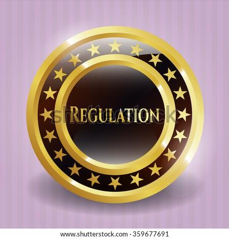 Regulation gold badge
