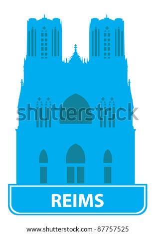 Reims skyline. Vector illustration